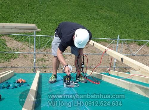 Máy hàn màng nhựa chống thấm Weldy Geo2 Mini